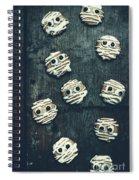 Halloween Mummy Cookies Spiral Notebook
