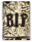 Halloween Rip Rest In Peace Headstone Spiral Notebook
