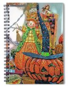 Halloween Scarecrow And Pumpkin Pa 02 Vertical Spiral Notebook