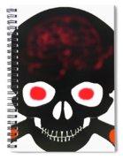 Halloween Skull Spiral Notebook