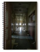 Hallway With Solitary Confinement Cells In Prison Hospital Spiral Notebook