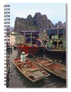 Halong Bay Harbor Scene Spiral Notebook