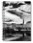 Hamburg At Sunset Spiral Notebook