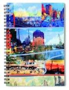 Hamburg Elbe Spiral Notebook