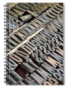 Hamilton Printing Press Letters Spiral Notebook