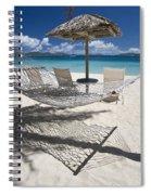 Hammock On The Beach Spiral Notebook