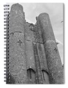 Hammond Castle Detail - Black And White Spiral Notebook