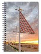 Hampton Beach Sunrise Hampton Beach State Park Hampton Nh Flag Spiral Notebook