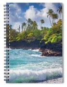 Hana Bay Waves Spiral Notebook