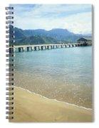 Hanalei Bay And Pier Spiral Notebook