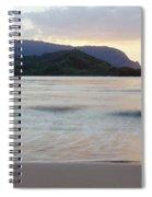 Hanalei Bay Evening Spiral Notebook