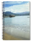 Hanalei Bay Outrigger Spiral Notebook