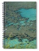 Hanauma Bay Reef And Snorkelers Spiral Notebook