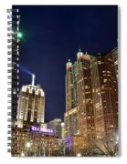Hancock From The Beach Spiral Notebook