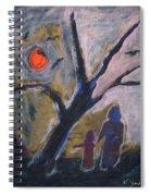 Hand In Hand Walk Under The Moon Spiral Notebook