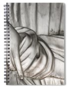 Hand And Robe Spiral Notebook