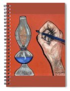 Hand Drawing Lamp Spiral Notebook