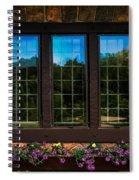Hand Hewn Oak Frames Spiral Notebook