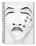 Hand On Face Mask B W Spiral Notebook