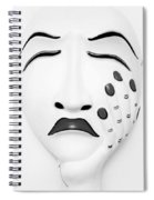Hand On Face Mask Black White Spiral Notebook