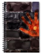 Hand On The Hole On The Wall Spiral Notebook