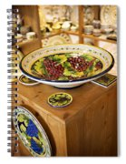 Hand Painted Dishes Spiral Notebook