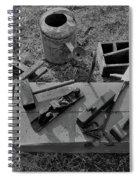 Hand Tool Box Bw Spiral Notebook