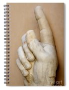 Hand With Pointing Index Finger. Statue Of Constantine. Palazzo Dei Conservatori. Capitoline Museums Spiral Notebook
