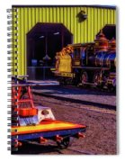Handcar And Old Train Spiral Notebook