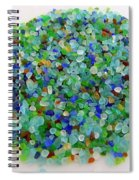 Handful Of Sea Glass Spiral Notebook
