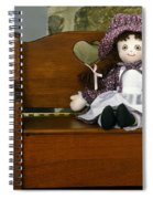 Handmade Cloth Doll Spiral Notebook