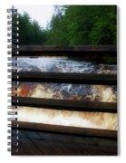 Handrails Tahquamenon Lower Falls Upper Peninsula Michigan 02 Spiral Notebook