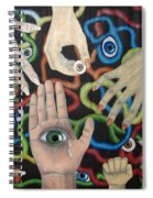 Hands And Eyes Spiral Notebook