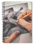 Hands Drawing Hands Spiral Notebook
