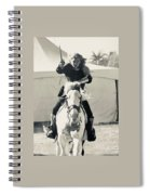 Handsome Knight Riding His Horse Spiral Notebook