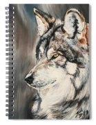 Handsome Wolf Spiral Notebook