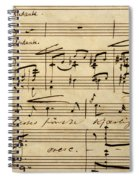 Handwritten Score For Hjertets Melodier, Opus 5 Spiral Notebook