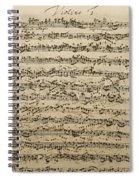 Handwritten Score For Mass In B Minor Spiral Notebook