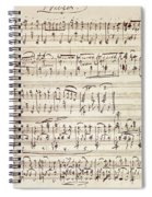 Handwritten Score For Waltz For Piano, Opus 39 Spiral Notebook