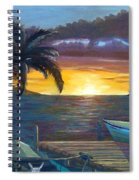 Hang Loose Harbor Spiral Notebook
