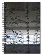 Hanging Butterflies B W 2  Spiral Notebook