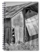 Hanging In - Bw Spiral Notebook