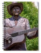 Hank Williams Statue - Cropped Spiral Notebook