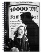 Hanna Maron And The Shadow Of Peter Lorre In M  1931 Spiral Notebook
