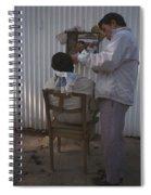 Hanoi Street Barber Spiral Notebook