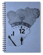 Hans Clock Cyan Spiral Notebook