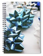 Hanukkah Bows- Photography By Linda Woods Spiral Notebook