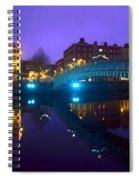 Hapenny Bridge, Dublin, Ireland Spiral Notebook
