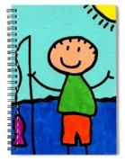 Happi Arte 2 - Boy Fish Art Spiral Notebook
