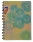Happiness In Blue  Spiral Notebook